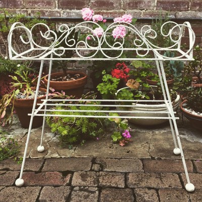 VINTAGE OUTDOOR PLANT STANDS