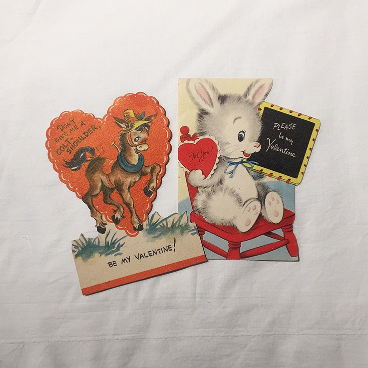 Vintage Valentine Cards $10.00 by INTERESTING ITEMS