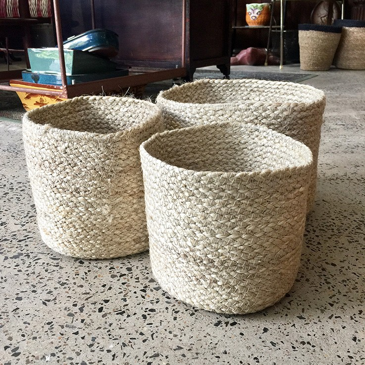 Braided Jute Baskets (various prices) by FAIR TRADE BASKETS