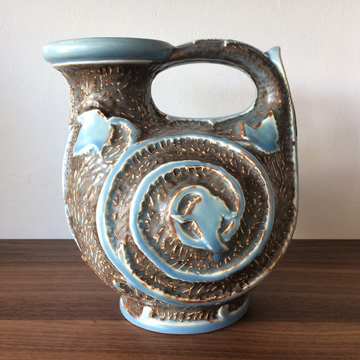 Burleigh Ware England Snail Leaf Design Jug (Circa 1940s) $85.00 by VINTAGE CERAMICS (International)
