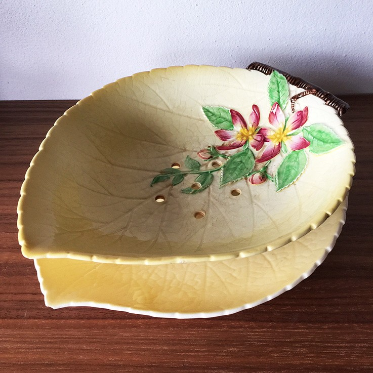 Carlton Ware Apple Blossom Salad Bowl and Plate $30.00 by INTERNATIONAL CERAMICS