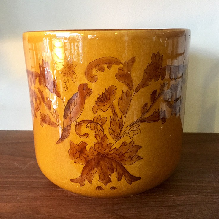 Hand Painted Planter, Brasil $60.00 by VARIOUS PLANTERS & POTS