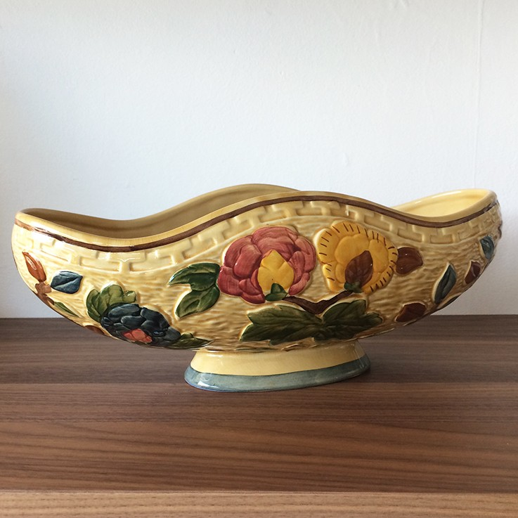 Indian Tree H J Wood Staffordshire Low Trough/Vase $60.00 by INTERNATIONAL CERAMICS