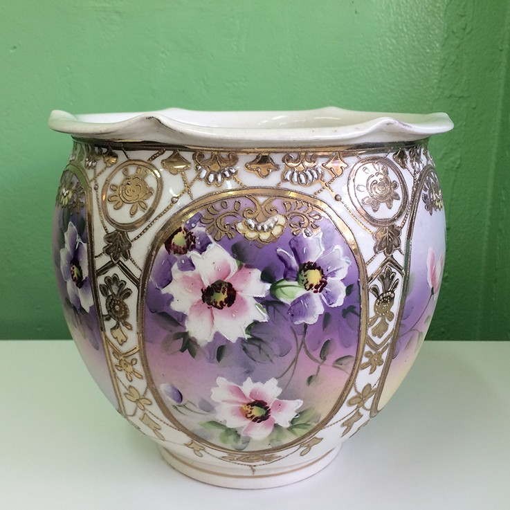 Made in Japan Jardiniere $75.00 by FLORAL/FOLIAGE PLANTERS