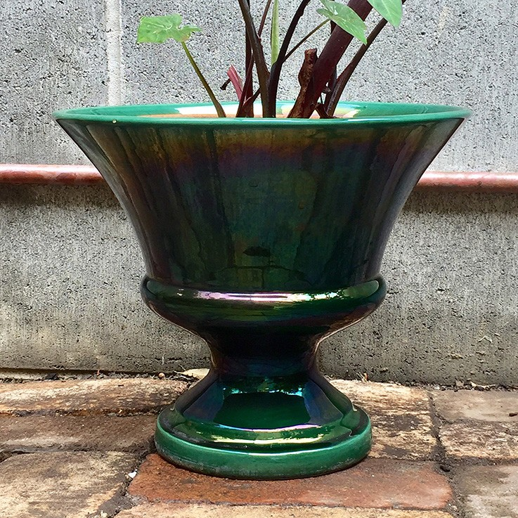 Large Green Glazed urn Plant Pot (drainage hole) $95.00 by VARIOUS PLANTERS & POTS