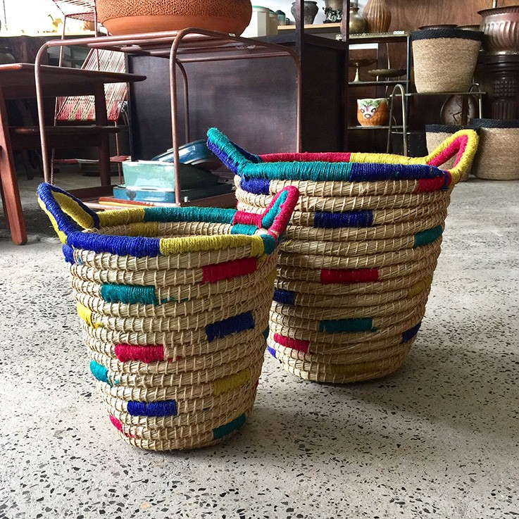 Seagrass and Jute Basket Coloured Areas (various prices) by FAIR TRADE BASKETS