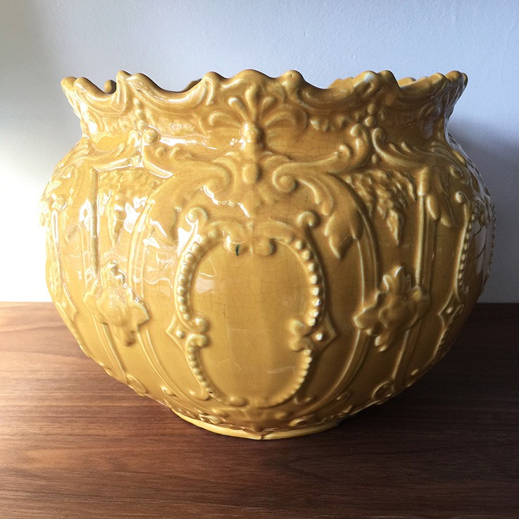 Honey Yellow Glazed Jardiniere, England $135.00 by VARIOUS PLANTERS & POTS
