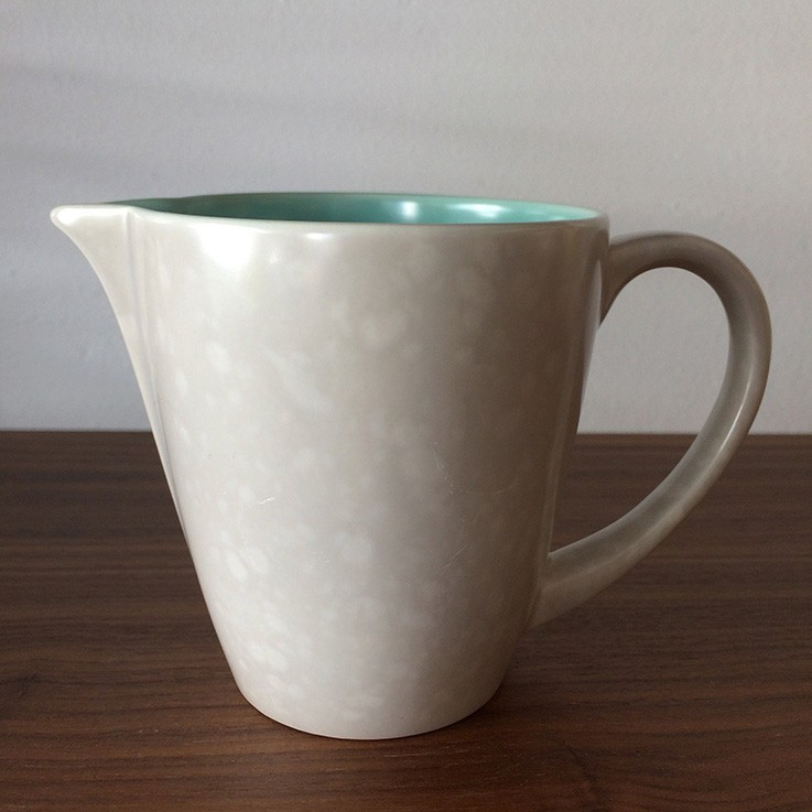Poole Twin Tone Ice Green/Seagull White Creamer $25.00 by TEA POTS, COFFEE POTS, CUPS, SAUCERS & CREAMERS