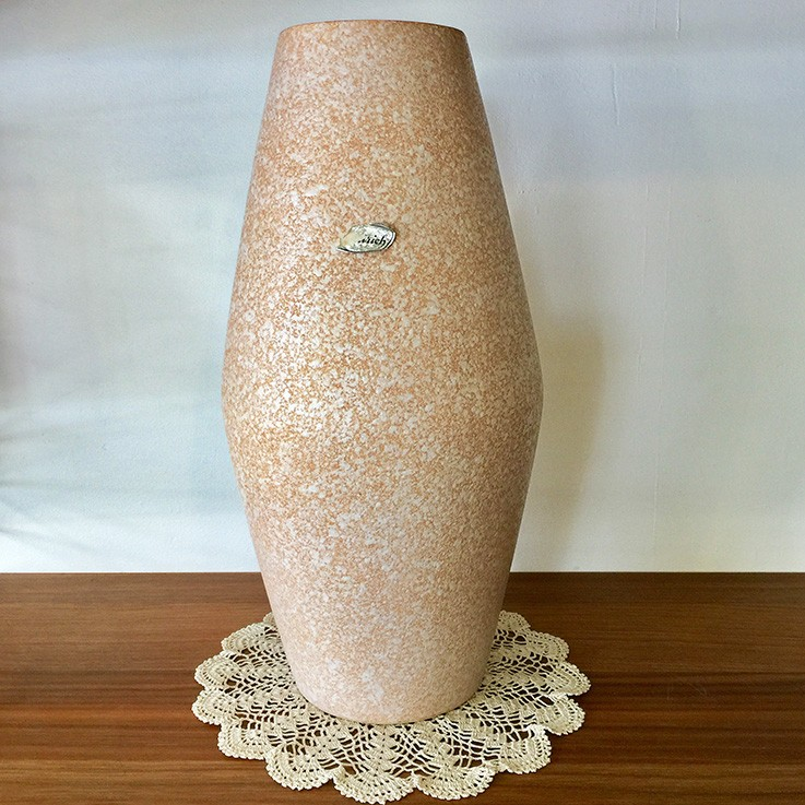 Scheurich Foreign Mottled Pink/Grey Textured Surface, Yellow Interior 248-38 $110.00 by INTERNATIONAL CERAMICS