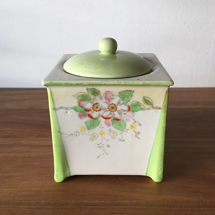 Square Shaped Hand painted Porcelain Sugar Bowl, Made in Japan $30.00 by INTERNATIONAL CERAMICS