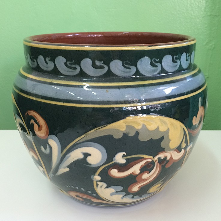 Exeter Pottery, Torquay Planter $50.00 by VINTAGE PLANTERS, POTS & TROUGHS