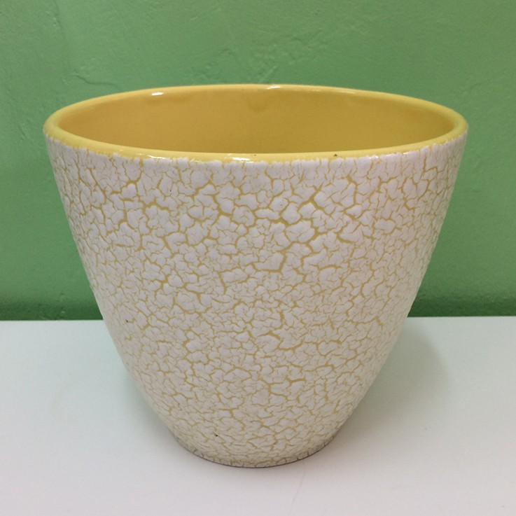 Jasba Cortina Yellow Planter Glaze 1960s (small glaze flaw ) $50.00 by VARIOUS PLANTERS & POTS